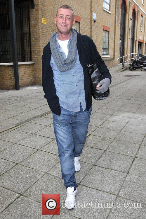 Christopher Maloney arrives at 'The X Factor' rehearsal...