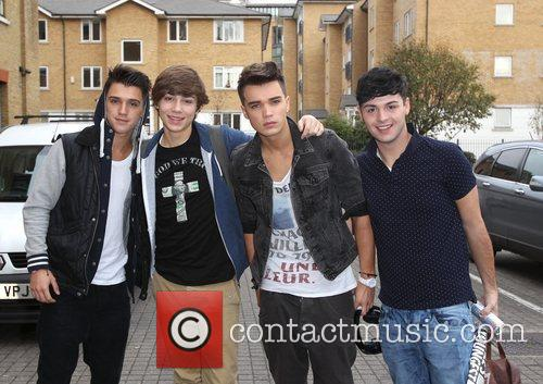 Union J arrive at 'The X Factor' rehearsal...