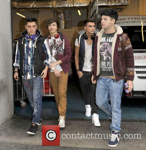The X Factor finalists outside their hotel