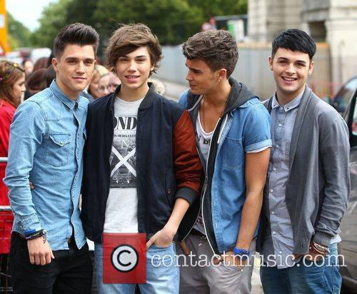 X Factor contestants arrive at rehearsal studios ahead...