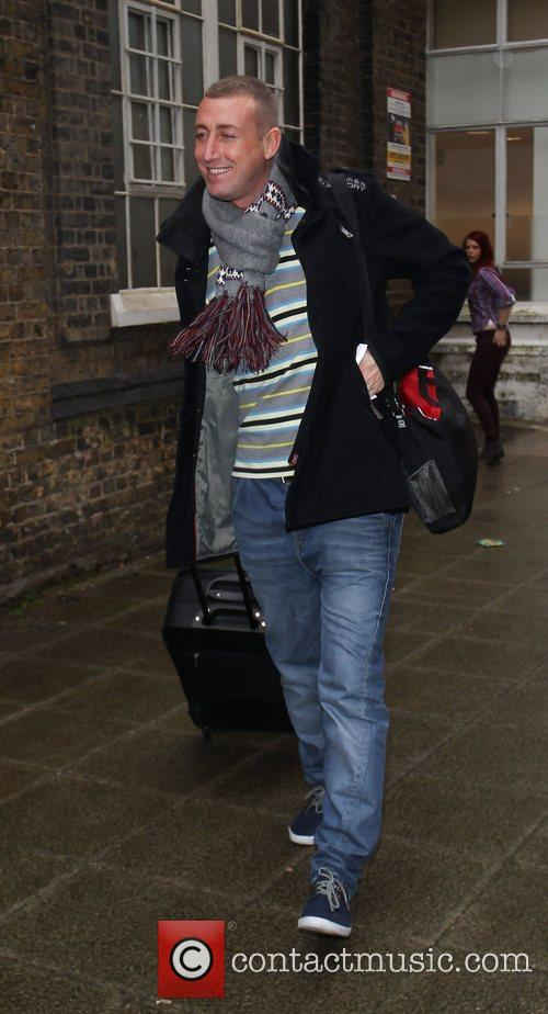 The X Factor finalists leave the rehearsal studios...