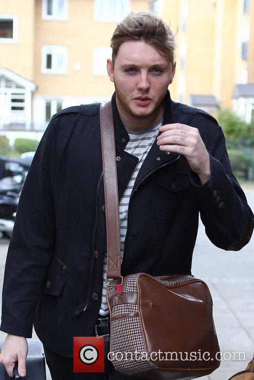 The X Factor finalist James Arthur arrives at...