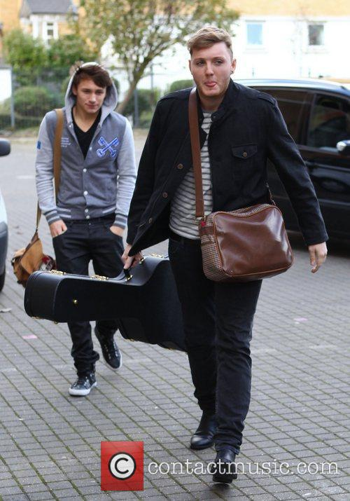X Factor finalists James Arthur and Michael Parsons...