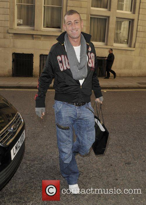 Chris Maloney 'X Factor' contestants outside their hotel...