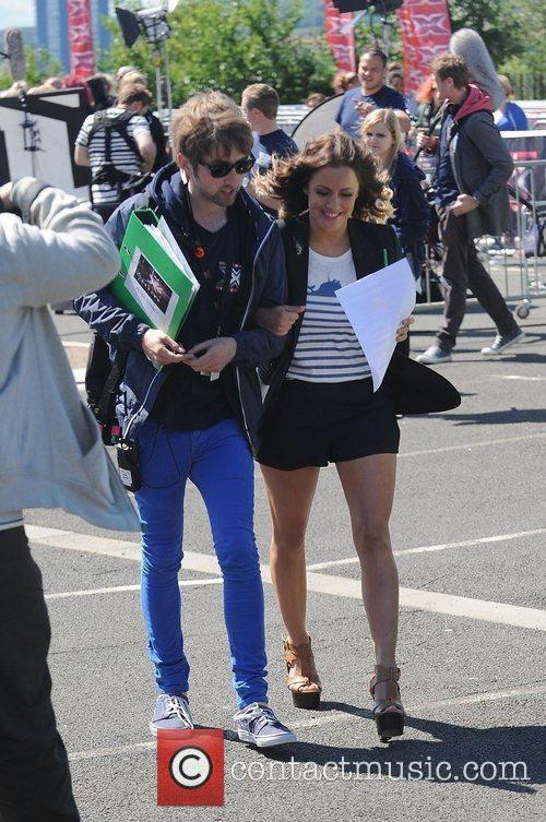 Caroline Flack 'The X Factor' auditions in Newcastle...