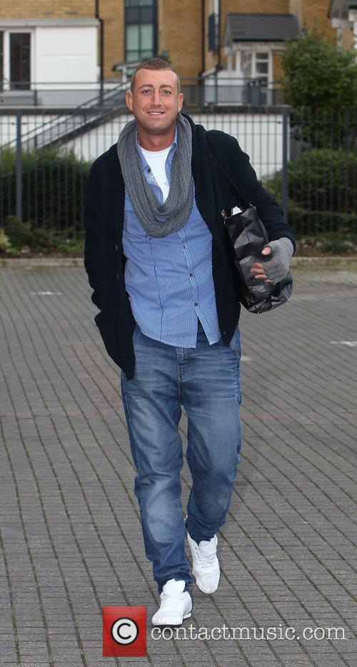 Arrives at 'The X Factor' rehearsal studios