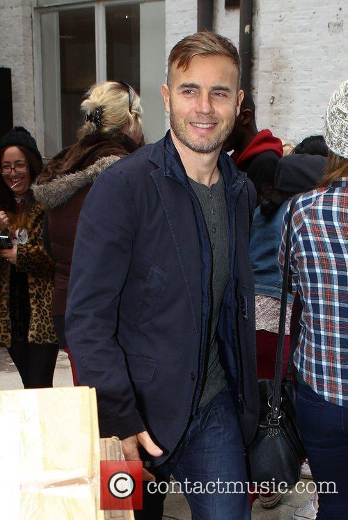 Gary Barlow  leaves 'The X Factor' rehearsal...