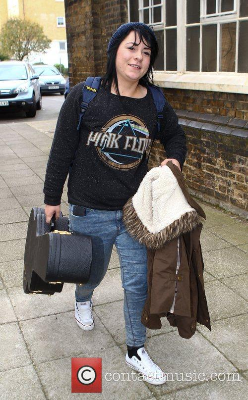 Lucy Spraggan arrives at 'The X Factor' rehearsal...