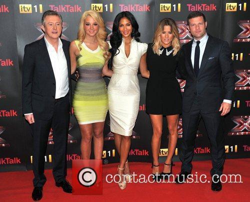 Louis Walsh, Caroline Flack, Nicole Scherzinger and Tulisa Contostavlos 2