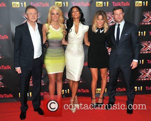 Louis Walsh, Caroline Flack, Nicole Scherzinger and Tulisa Contostavlos 3