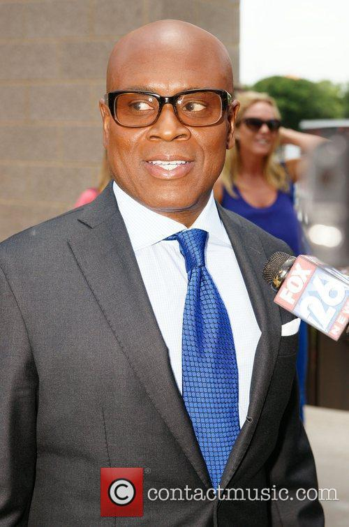 L.A. Reid arrives for The X Factor auditions...
