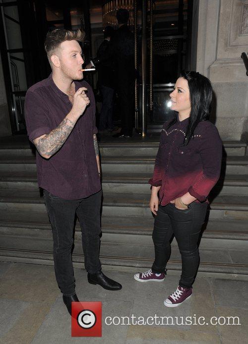 X Factor contestants James Arthur and Lucy Spraggan...
