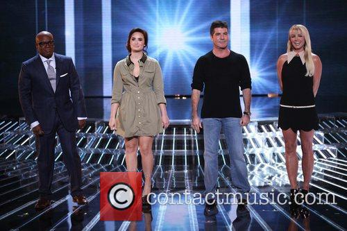 L, A. Reid, Demi Lovato, Simon Cowell, Britney Spears and The X Factor 3