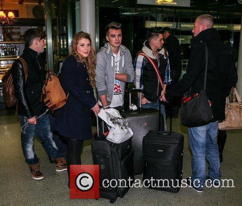 The X Factor finalists arrive at the station...