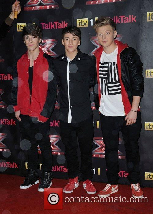 District3 X Factor final photcall Manchester Convention Centre...