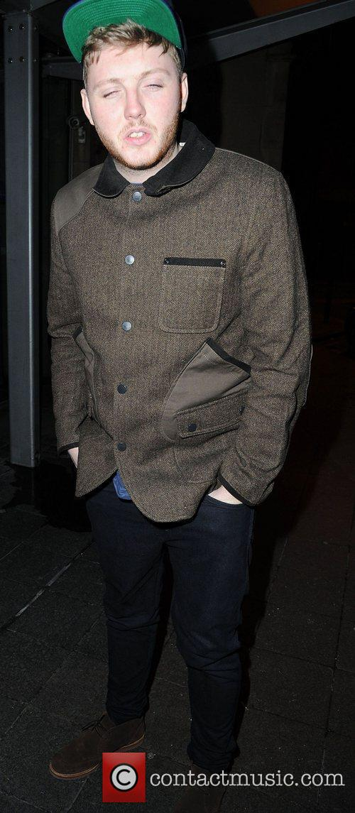 James Arthur arrives at his hotel ahead of...