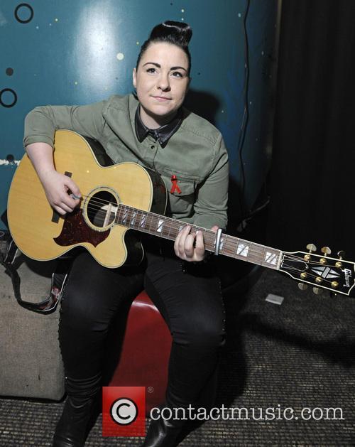 Lucy Spraggan backstage at G-A-Y at Heaven nightclub...