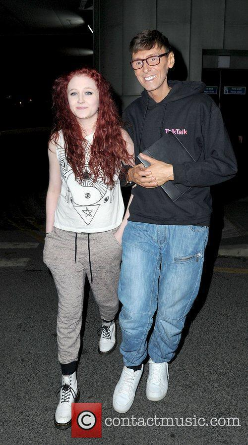 Janet Devlin and Jonny Robinson leaving their hotel...