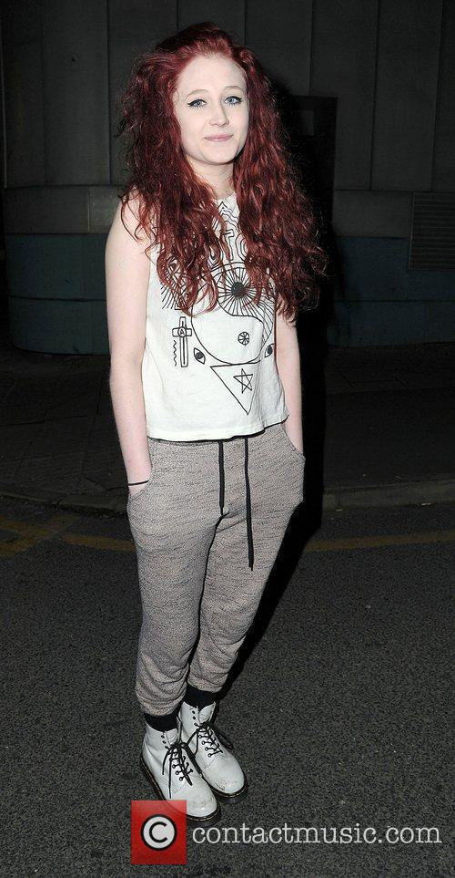 Janet Devlin leaving her hotel after performing for...