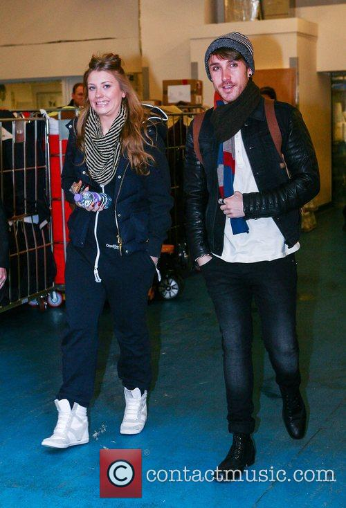 'The X Factor' contestants leaving their hotel