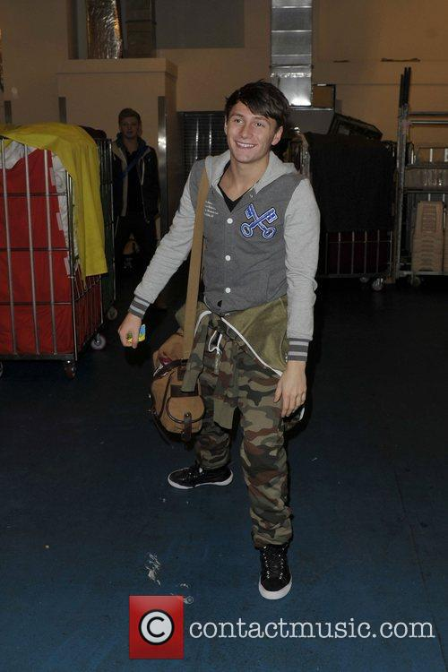 X Factor contestents arriving back at the hotel...
