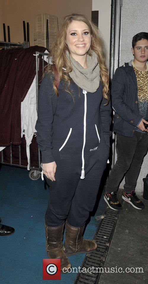X Factor contestents arriving back at the hotel.