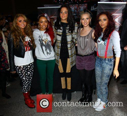X Factor finalists 'Little Mix' with judge and...