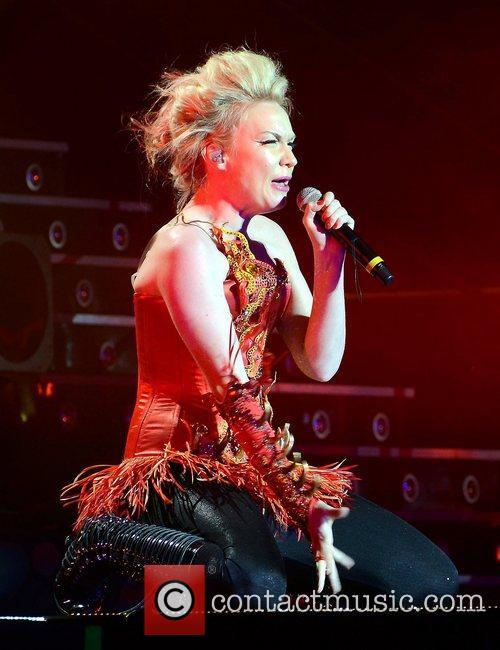 Kitty Brucknell 'X Factor Tour' live at the...