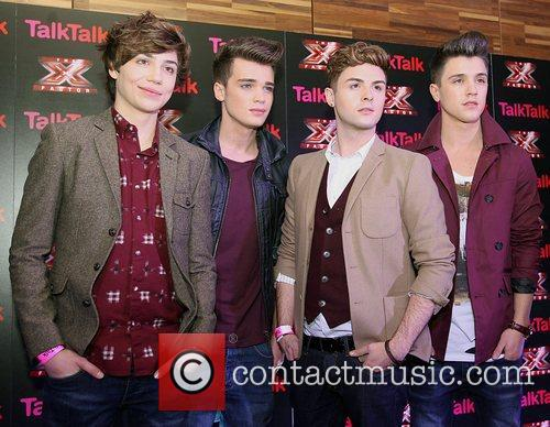 At the photocall at the TalkTalk X Factor...