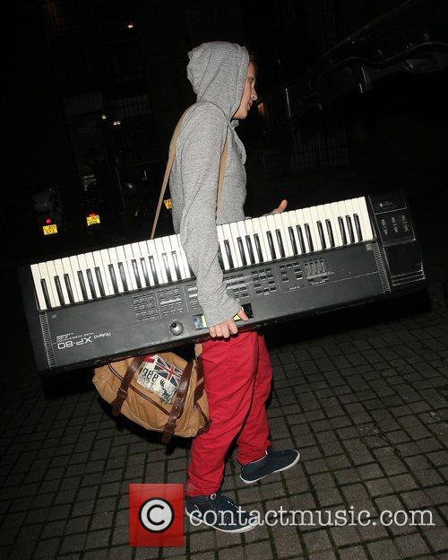 Leaving the X Factor rehersal studios.