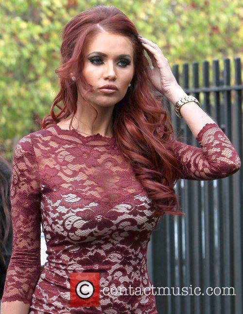 Amy Childs  arrives at her salon in...