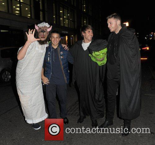 X Factor stars arrive at Halloween party