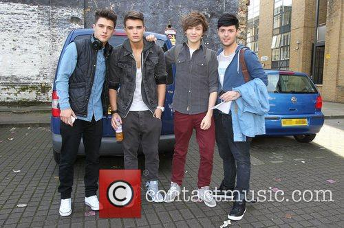 The X Factor finalists outside the studio
