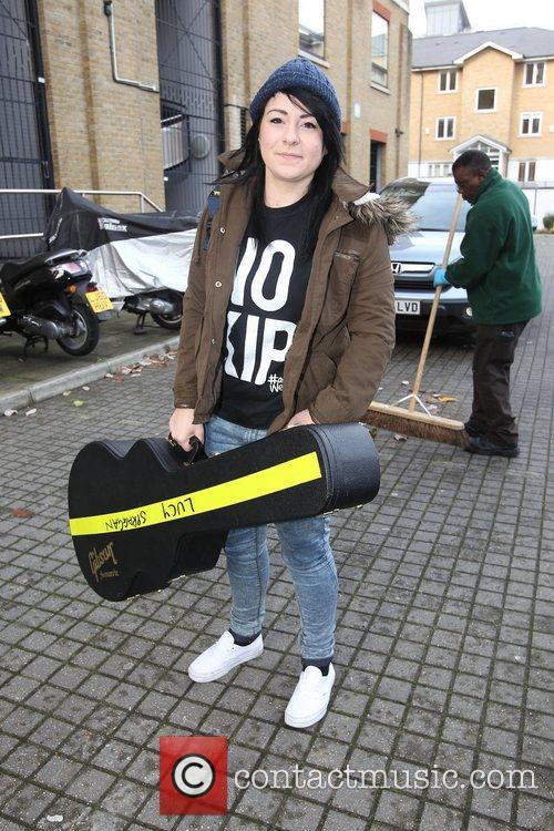 Lucy Spraggan wears a T-shirt with the slogan...