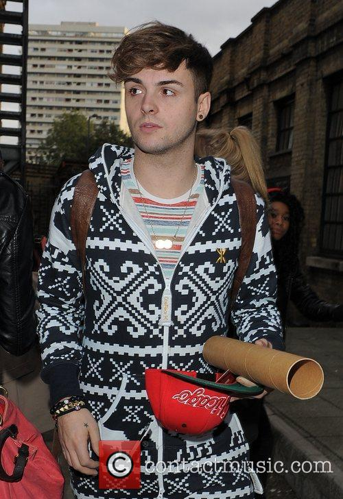 X Factor contestant Jaymi Hensley from boyband Union...