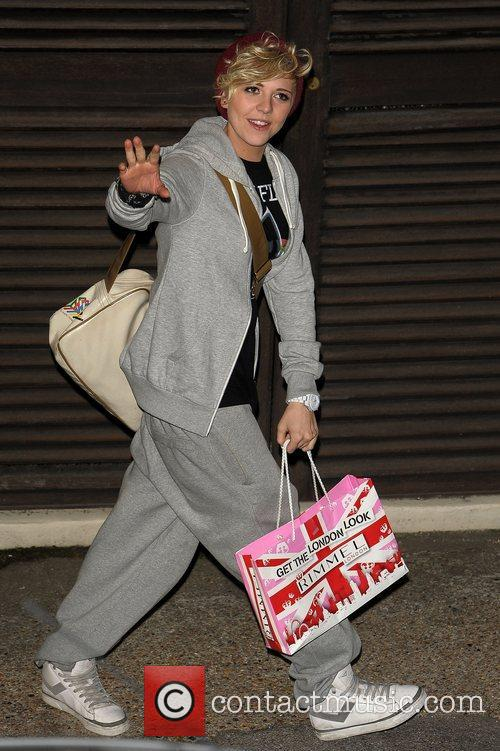 Celebrities leaving the X Factor at Fountain Studios