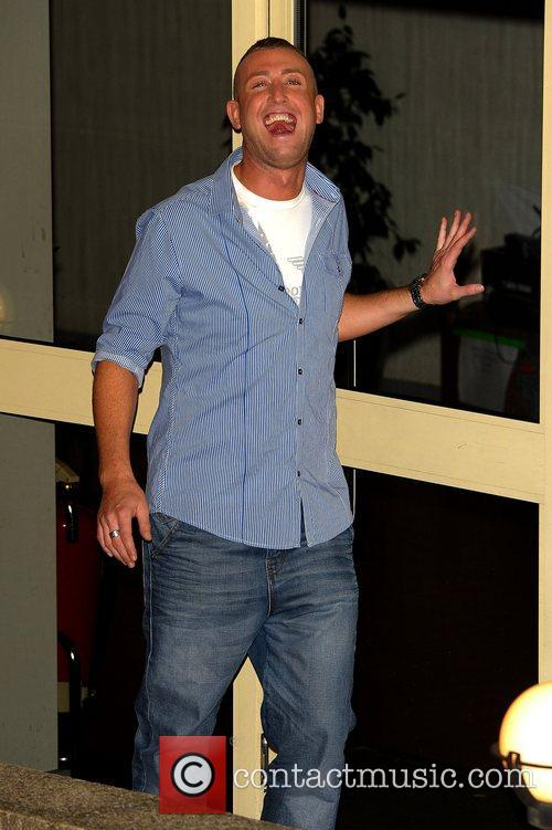 Christopher Maloney Celebrities leaving the X Factor at...