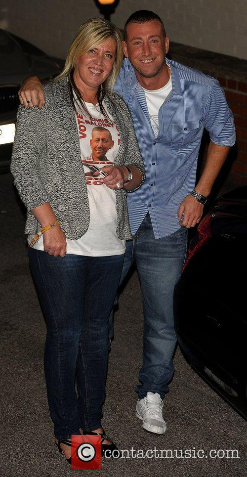 Christopher Maloney (R) Celebrities leaving the X Factor...