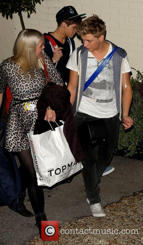 GMD3 Celebrities leaving the X Factor at Fountain...