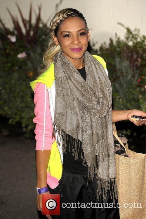 Jade Ellis Celebrities leaving the X Factor at...