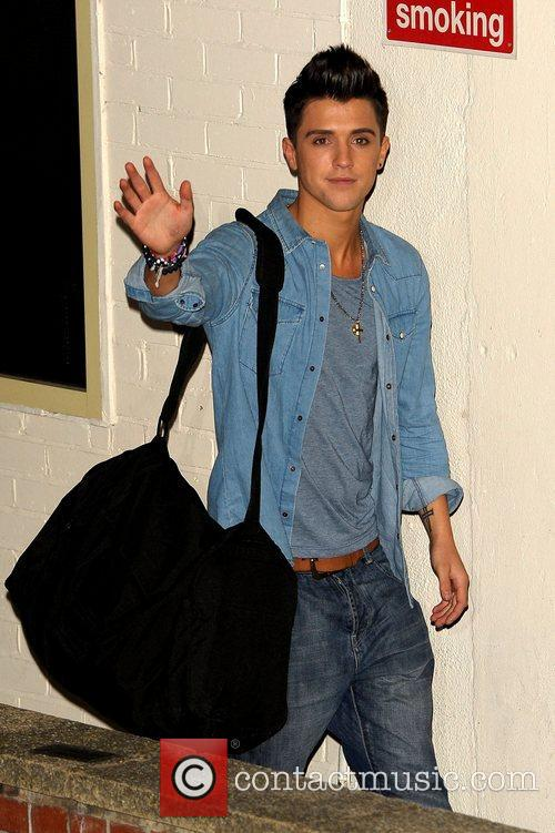 Jamie Hamblett of Union J Celebrities leaving the...