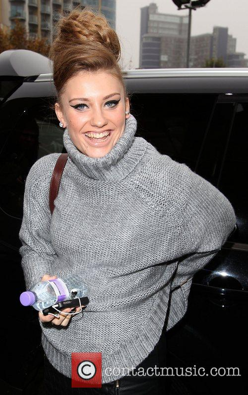 Ella Henderson 'X Factor' contestants arriving at the...