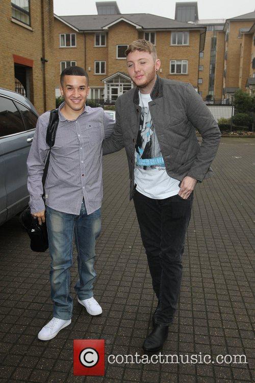 Jahmene Douglas and James Arthur 'The X Factor'...