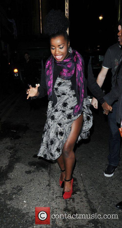 Misha Bryan at The X Factor Wrap Party...