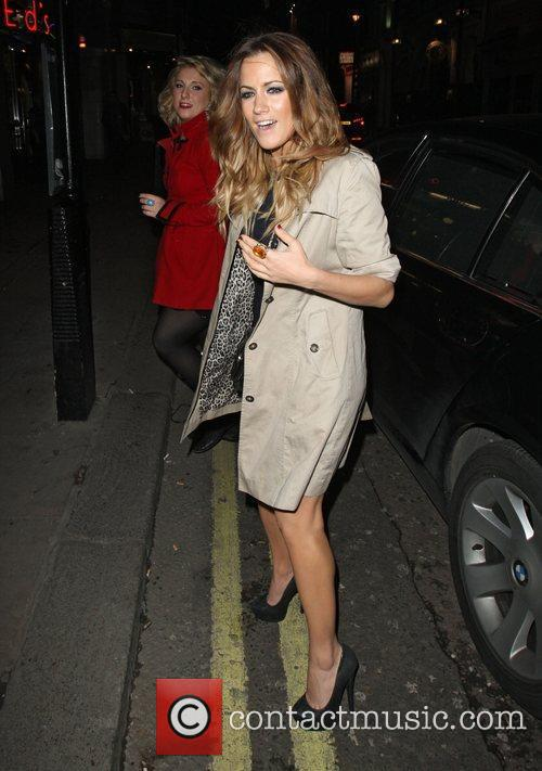 Caroline Flack at The X Factor Wrap Party...
