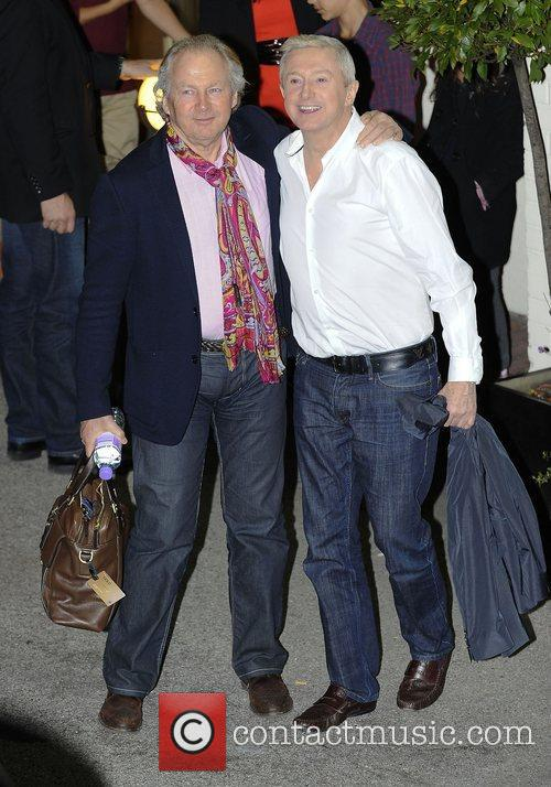 Richard Holloway and Louis Walsh leaving the X...