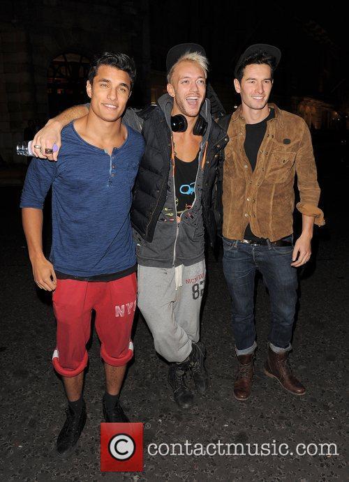 X Factor contestants Staz Nair, Luke White and...