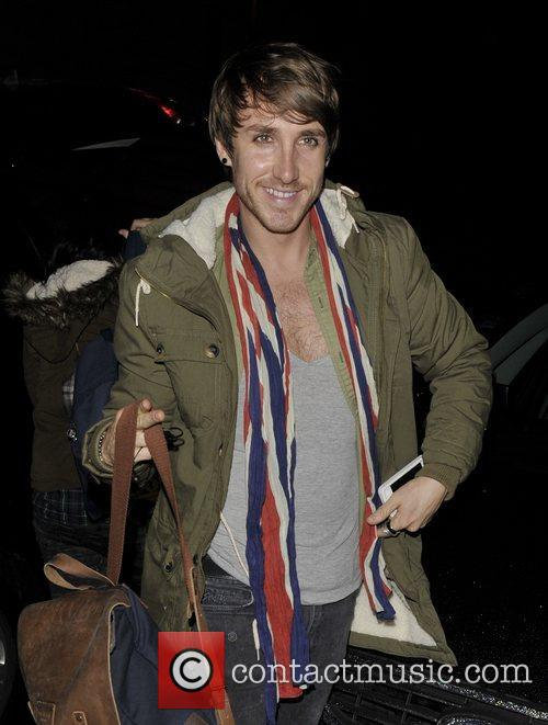 X Factor contestants arriving back at the hotel.