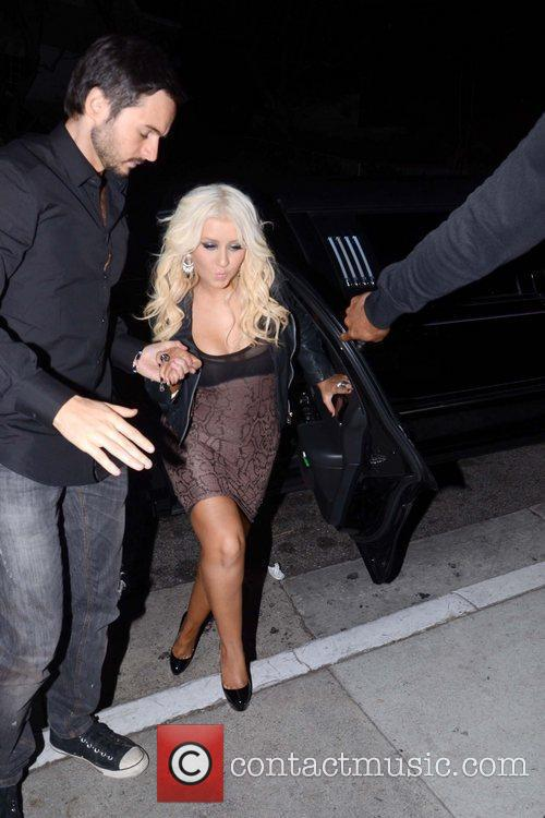 Christina Aguilera and Matt Rutler are seen leaving...