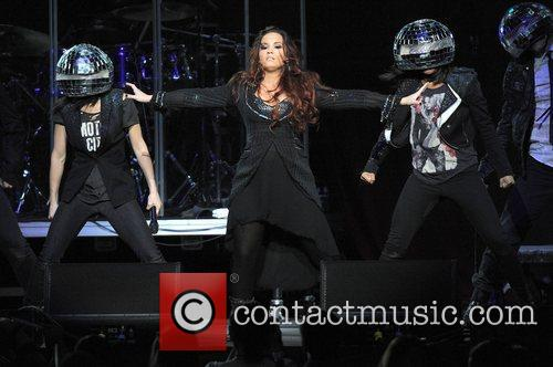 Demi Lovato performing live during the Y100 Jingle...